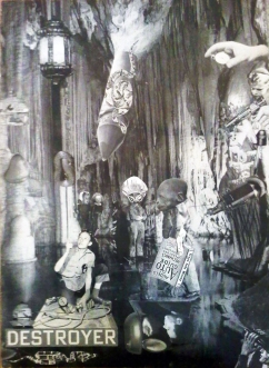 DESTROYER: Collage of the inside of Gibraltar, SOLD