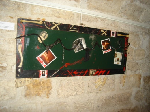 HEX: Cabinet door transformed into a voodoo hex, $280